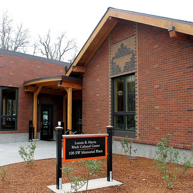 the exterior of the Lonnie B. Harris Black Cultural Center