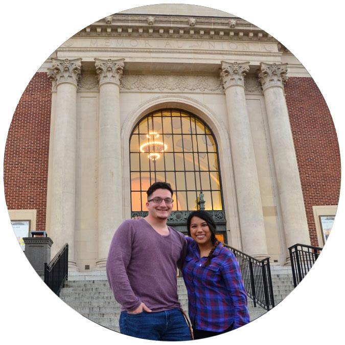Richelle Castro and Justin Vazquez-Ellis