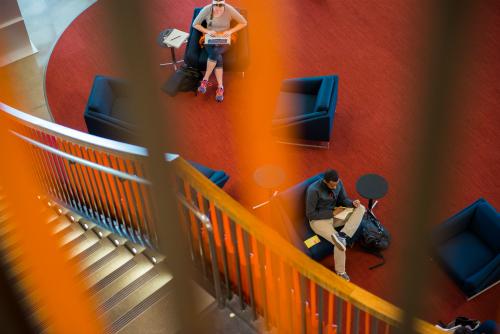 Birdseye view of lounge space