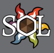 Sol's logo,a graphic sun