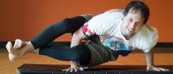 Ryan Barrett in a yoga pose