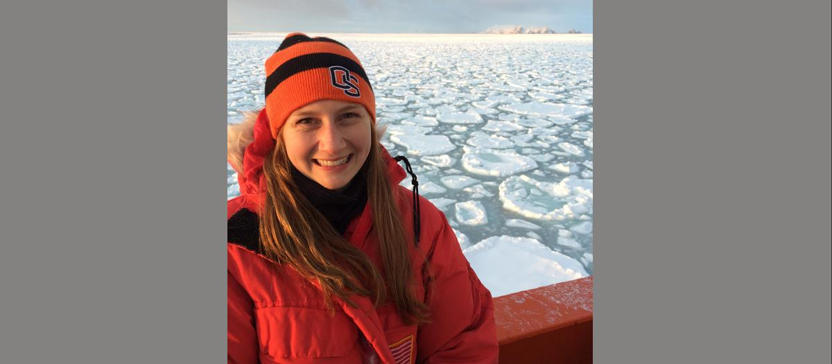 Feature story image, Lacey Gunther in Antarctica